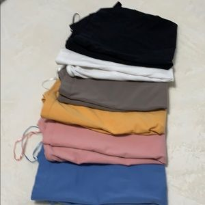 H & M Crewneck Tees in 6 different colors.